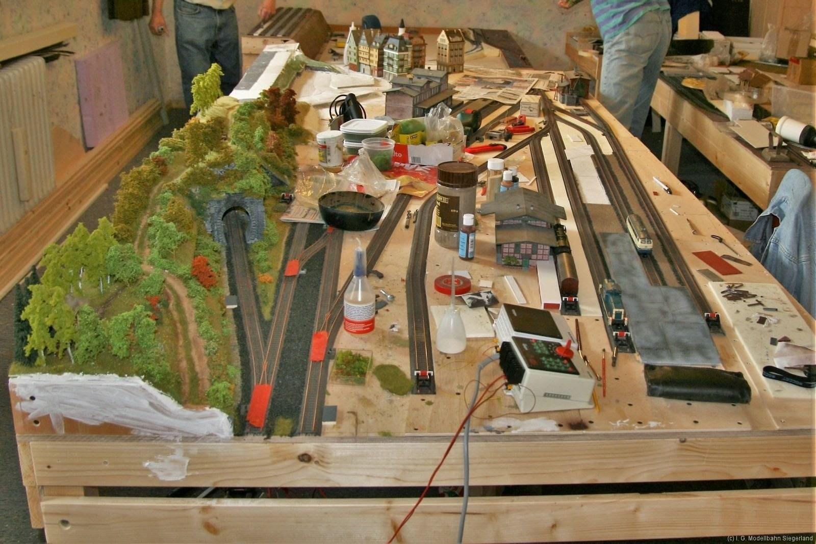 Bauarbeiten an der Anlage